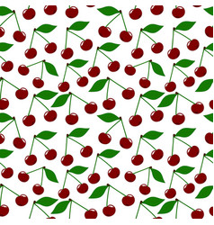 cherry seamless pattern vector image