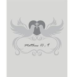 Christian invitation vector image