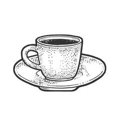 Coffee cup sketch vector
