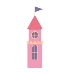 cute castle isolated icon vector image
