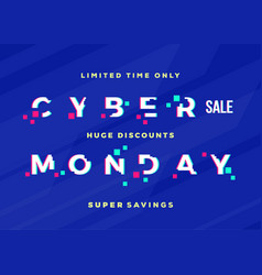 cyber monday sale abstract card flayer or vector image