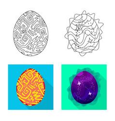 Design animal and prehistoric icon set vector