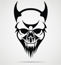 Devil skulls tribal vector