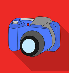 Digital camera icon in flat style isolated on vector