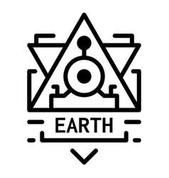 Earth alchemy icon outline style vector