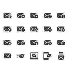 email in glyph icon set vector image