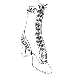 Female shoe shaped to fit the foot vintage vector