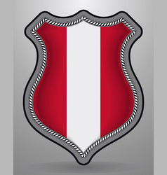 Flag of austria badge and icon vector