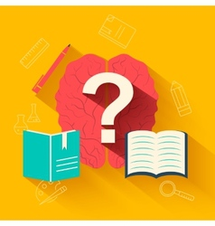 Flat education training background concept d vector