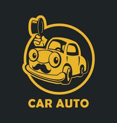 funny cartoon car vector image