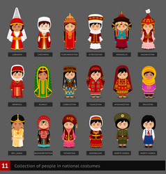 girls in national costumes vector image