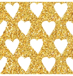 Golden Heart Glitter Background vector image