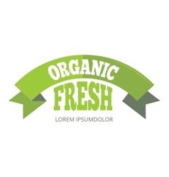 Green organic natural eco label vector