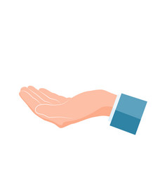 hand icon human hand palm up vector image