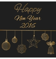 Happy new year Polygon vector image