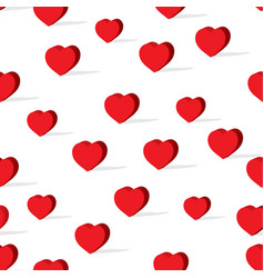 happy valentines day heart pattern vector image