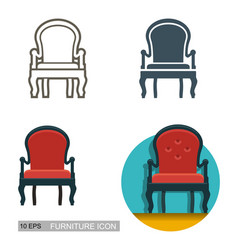 icons of the armchair vector image