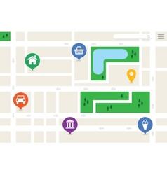 Imaginary City Map vector
