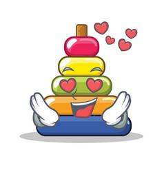 in love pyramid ring character cartoon vector image