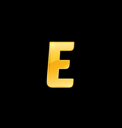 initial letter e with metallic texture trendy 3d vector image