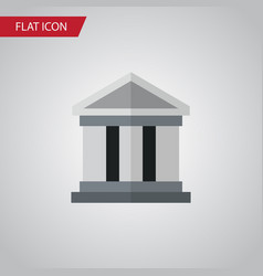 Isolated building flat icon bank element vector