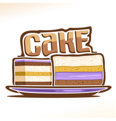 Logo for cake vector
