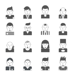 Man Faces Icons vector