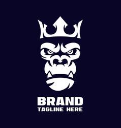 Modern angry gorilla logo vector