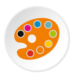 palette for drawing icon flat style vector image