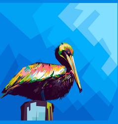 Pelican style pop art vector