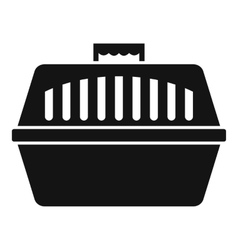 Pet carry case icon simple style vector