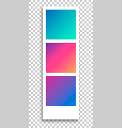 Photo frame on transparent background template vector