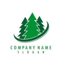 pine logo vector image