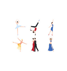 professional dancers dancing classical modern and vector image