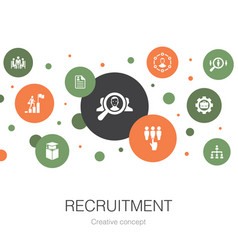 Recruitment trendy circle template with simple vector