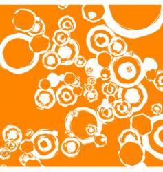 retro geometric grunge circles vector image
