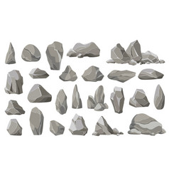 rock stones and debris mountain gravel vector image