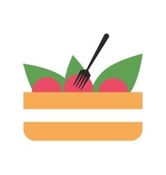 Salad bowl icon vector
