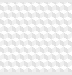 seamless geometric 3d pattern white cubes vector image
