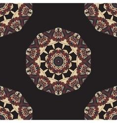 Seamless Round Mandala Wallpaper Round frame vector image