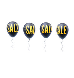 set colored balloons with word sale symbol vector image