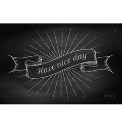 Set of old vintage ribbon banners with word vector