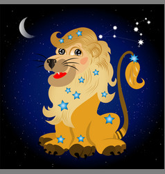 Sign of the zodiak leo vector