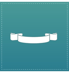 Simple ribbon flat icon vector image