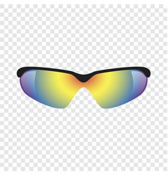 Sport glasses mockup realistic style vector