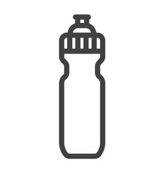 sports water bottle line icon fitness and sport vector image