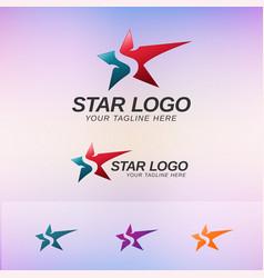 star logo concept vector image