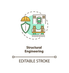 Structural engineering concept icon vector
