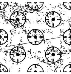 Target pattern grunge monochrome vector