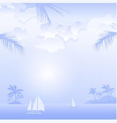 Travel island landscape vector